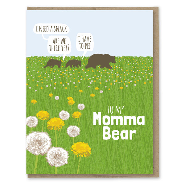 Card. Momma Bear