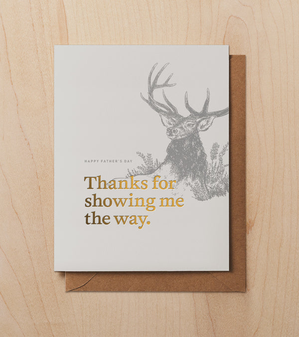 Card: Dad, Thanks for Showing Me the Way