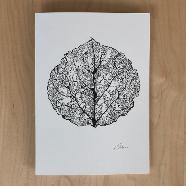 Card: Aspen Skeleton Leaf