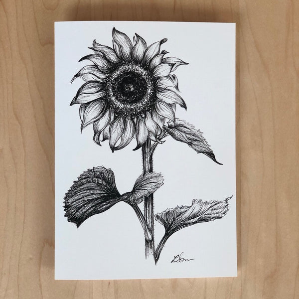 Card. Sunflower