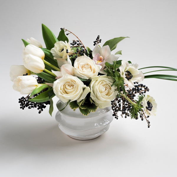 """Just Like Heaven"" Valentine's Day white flower bouquet"