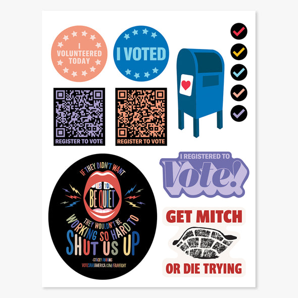 Vote Save America Interactive Election Action Calendar & Sticker Set