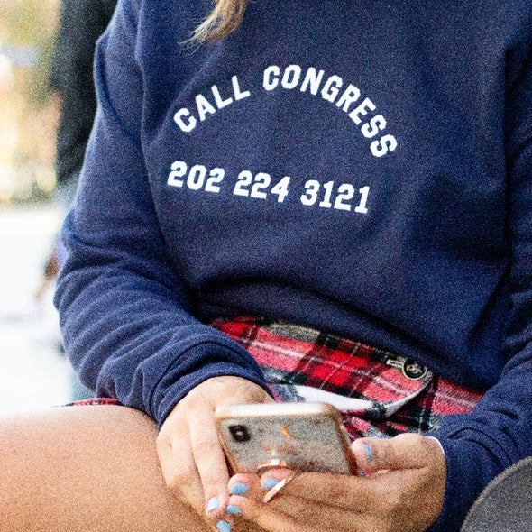 Call Congress Embroidered Sweatshirt