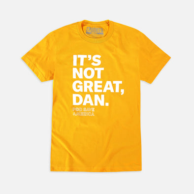 It's Not Great, Dan T-Shirt Yellow