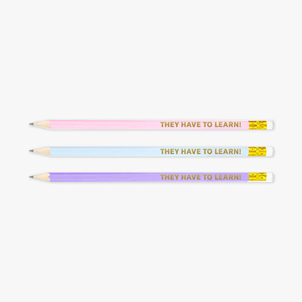 Hysteria Teach Pencils Set of 3