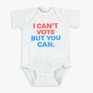 I Can't Vote But You Can Kids Apparel