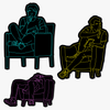 Lovett Sitting Stickers Set of 3