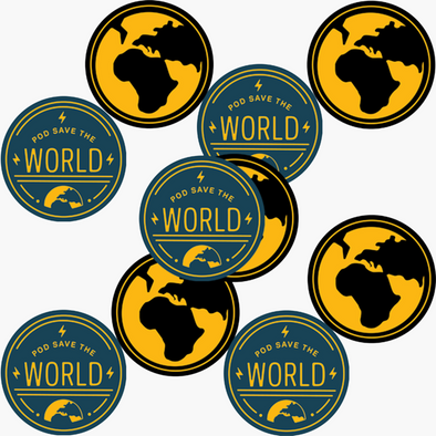 Pod Save The World Sticker Pack (10)