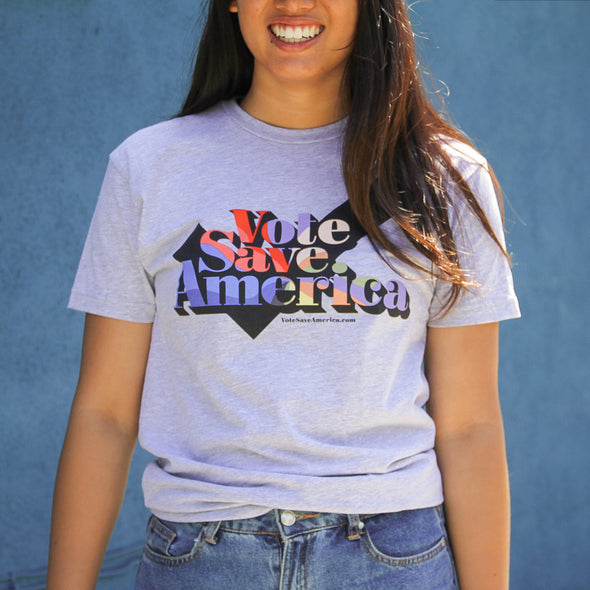 Vote Save America T-Shirt - Gray