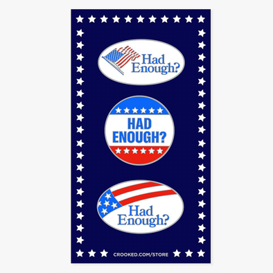 Had Enough Pins Set of 3