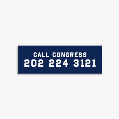Call Congress Car Magnet