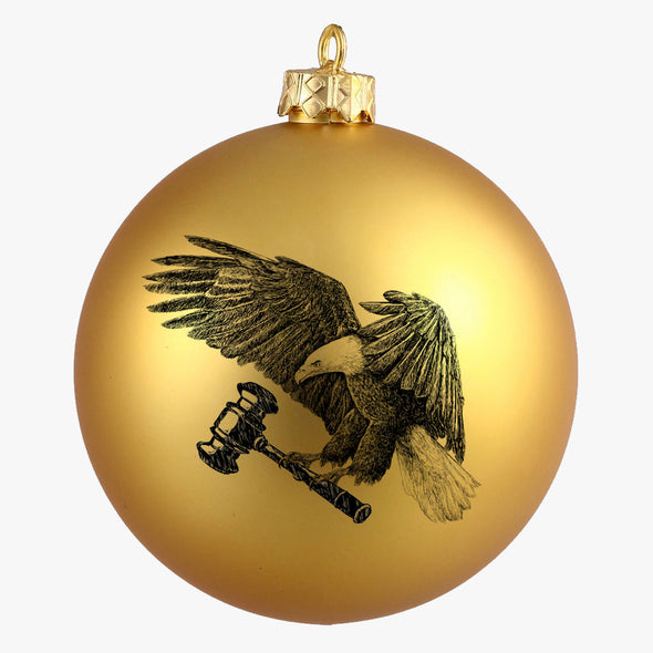 Impeachment Eagle Holiday Ornament