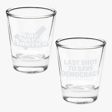 VSA Save Democracy Shot Glass 2 Pack