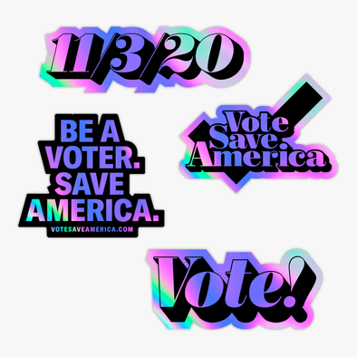 Vote Save America: Holographic Sticker Pack