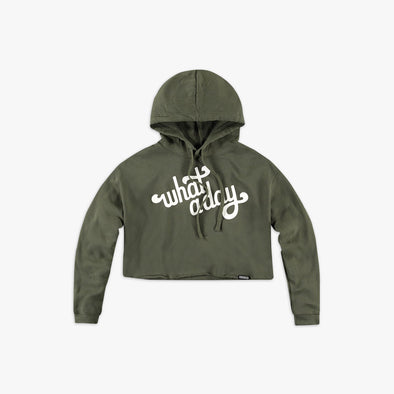 What A Day Cropped Hoodie