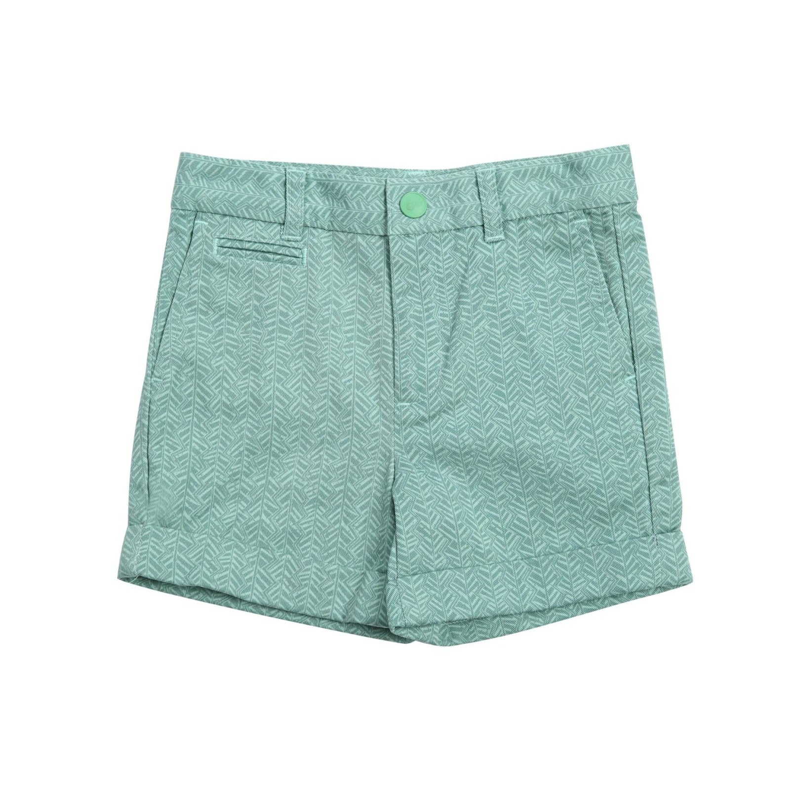 Fern Cuffed Cotton Short