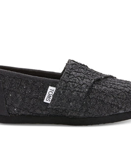 Black Lace Glimmer Tiny TOMS Classics