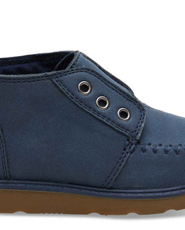Navy Synthetic Suede Tiny TOMS Chukka Boots