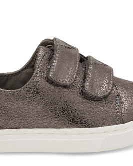 Pewter Crackle Foil Tiny Lenny Sneakers