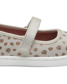 Rose Gold Dots Tiny TOMS Mary Janes