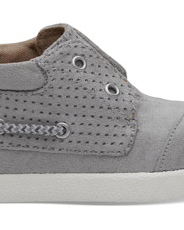 Drizzle Grey Perforated Microfiber Tiny TOMS Bimini High Sneakers