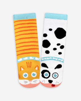 Pals Cat & Dog Kids Socks