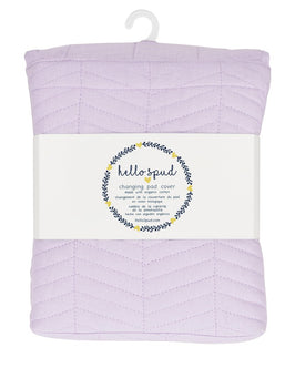 Changing Pad Cover - Lavender Chevron Quilted with Organic Cotton
