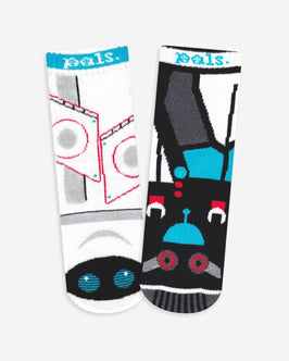 Pals Space & Earth Robot Kids Socks