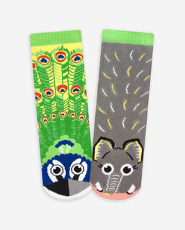 Pals Peacock & Elephant Kids Socks