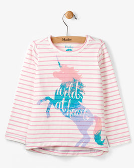Wild at Heart Unicorn Long Sleeve Tee