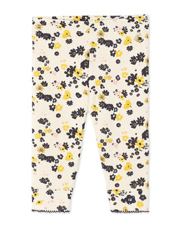 Baby girl's print leggings with sequins