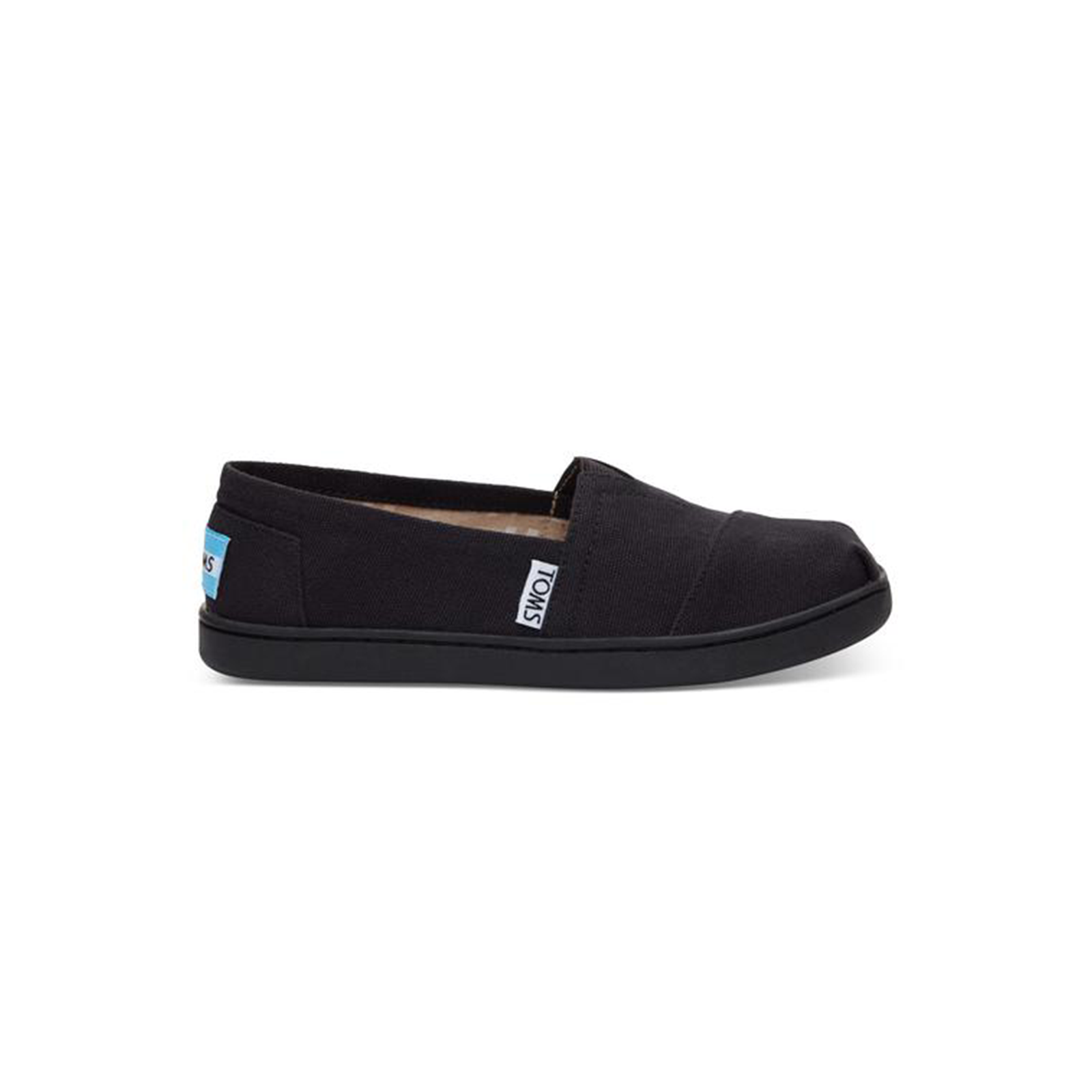 9221d3da3bd ... Black Canvas TOMS Youth Classics 2.0 in Black Canvas TOMS Youth Classics  2.0 ...