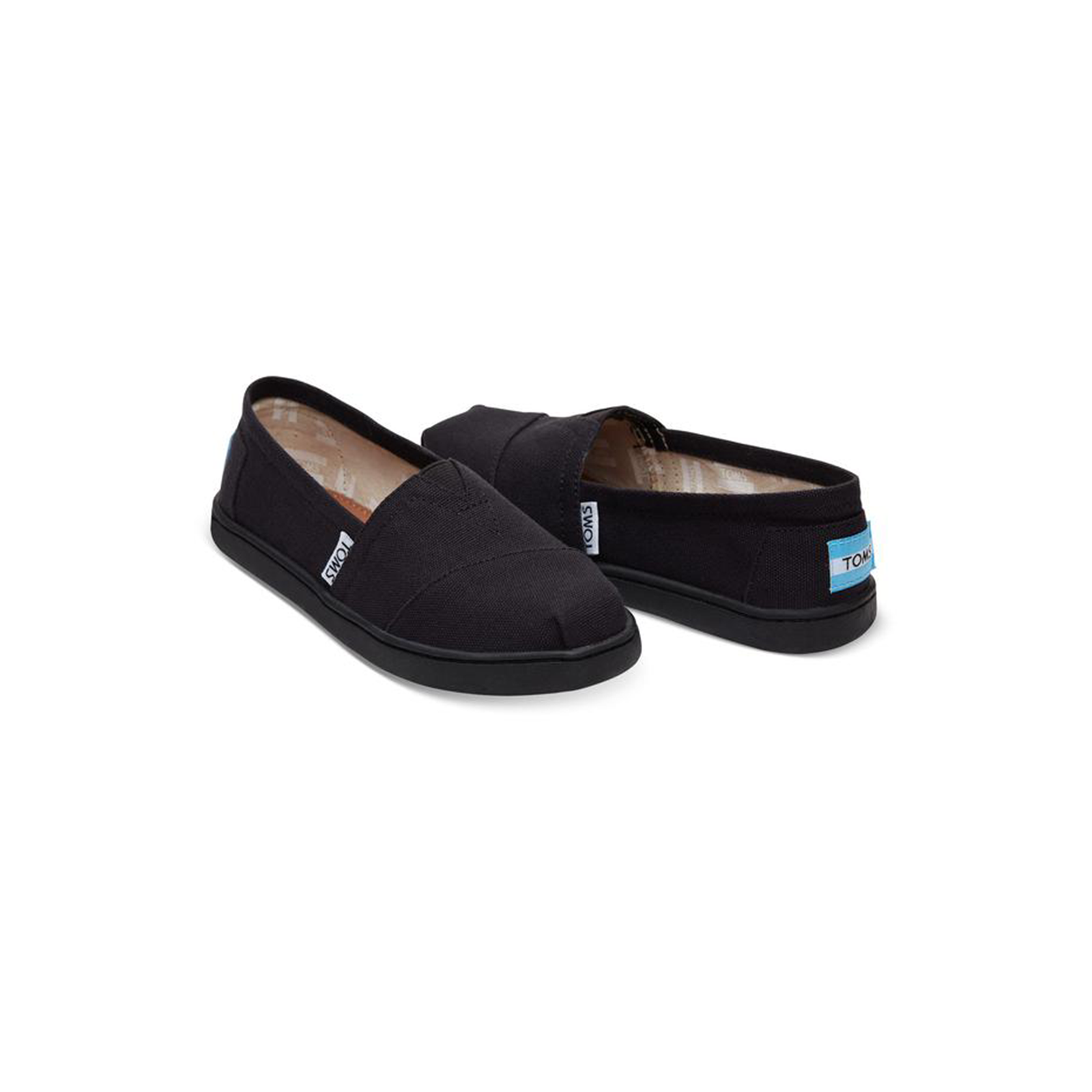 7314b241a46 Black Canvas TOMS Youth Classics 2.0