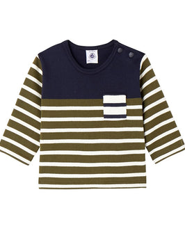 Baby boy's heavyweight jersey sailor top