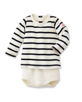 Baby striped long-sleeved T-shirt bodysuit