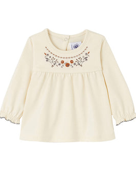 Baby girl's embroidered blouse