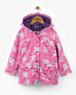Winged Unicorn Girls Raincoat