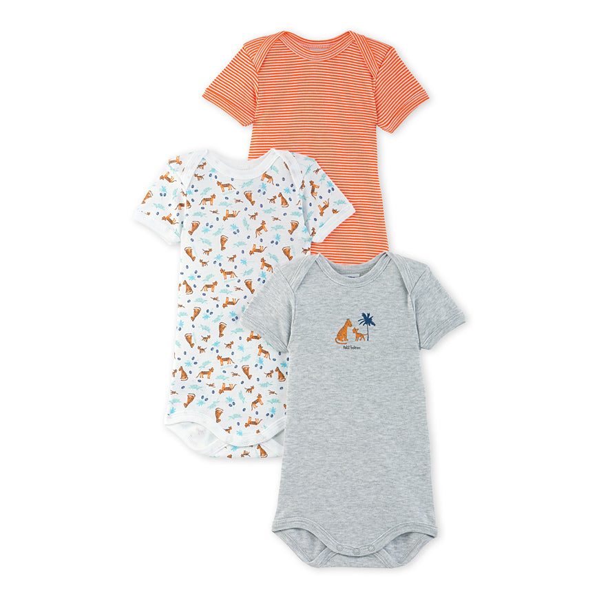 Pack of 3 baby boy bodysuits
