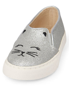 Toddler Girls Glitter Cat Slip-On Rockstar Sneaker