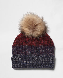 River Island Ombre Knit Beanie Hat