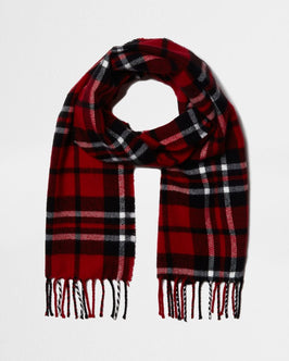 River Island Boys red check scarf