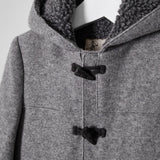 River Island Mini Boys Grey Fleece Lined Hood Duffle Coat in River Island Mini Boys Grey Fleece Lined Hood Duffle Coat