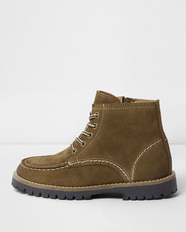 River Island Boys brown leather ankle boots
