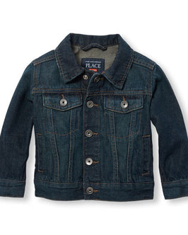 Toddler Boys Long Sleeve Snap Button-Front Denim Jacket