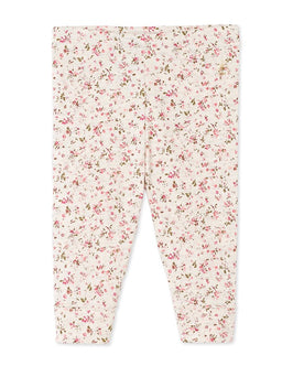 Baby girl's printed double knit leggings