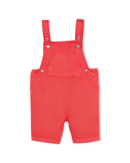 Baby boy's striped short overalls