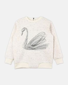Reeve Swan Embroidered Sweater