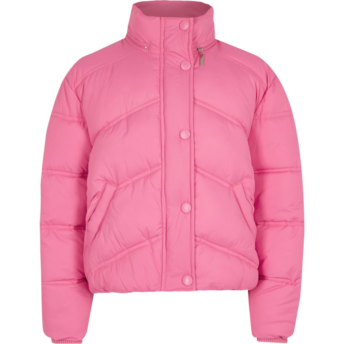 River Island Girls Funnel Neck Puffer Jacket