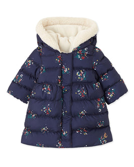 Baby girl's print padded jacket