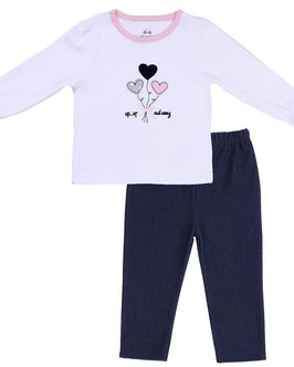 BABY OUTFIT (TEE W/ KNIT JEANS)
